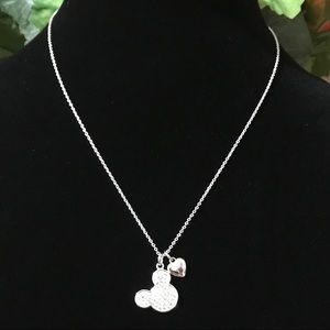 Disney's Fine Silver Plated Mickey Necklace